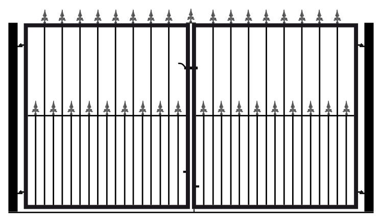 Flat Top Double 6ft Tall Gates
