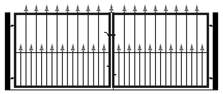 Flat Top Double 3ft Tall Gates